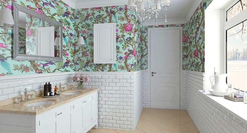 Tapete fürs Bad: eine universelle Lösung für ein stilvolles Zimmer ...