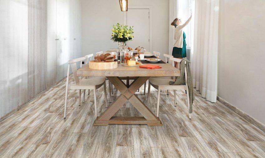 Die Böden in der Küche sind besser: Fliesen, Laminat ...