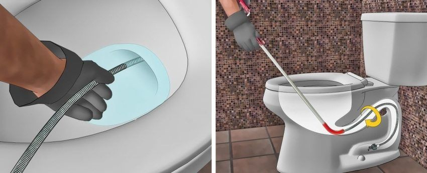 Toilette Rohr Verstopft
